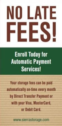 No Late Fees!