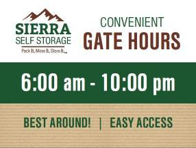 Best access hours around!