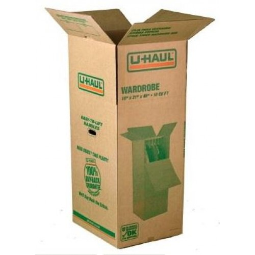 U Haul Grand Wardrobe Box: Wardrobe Box Space Saver